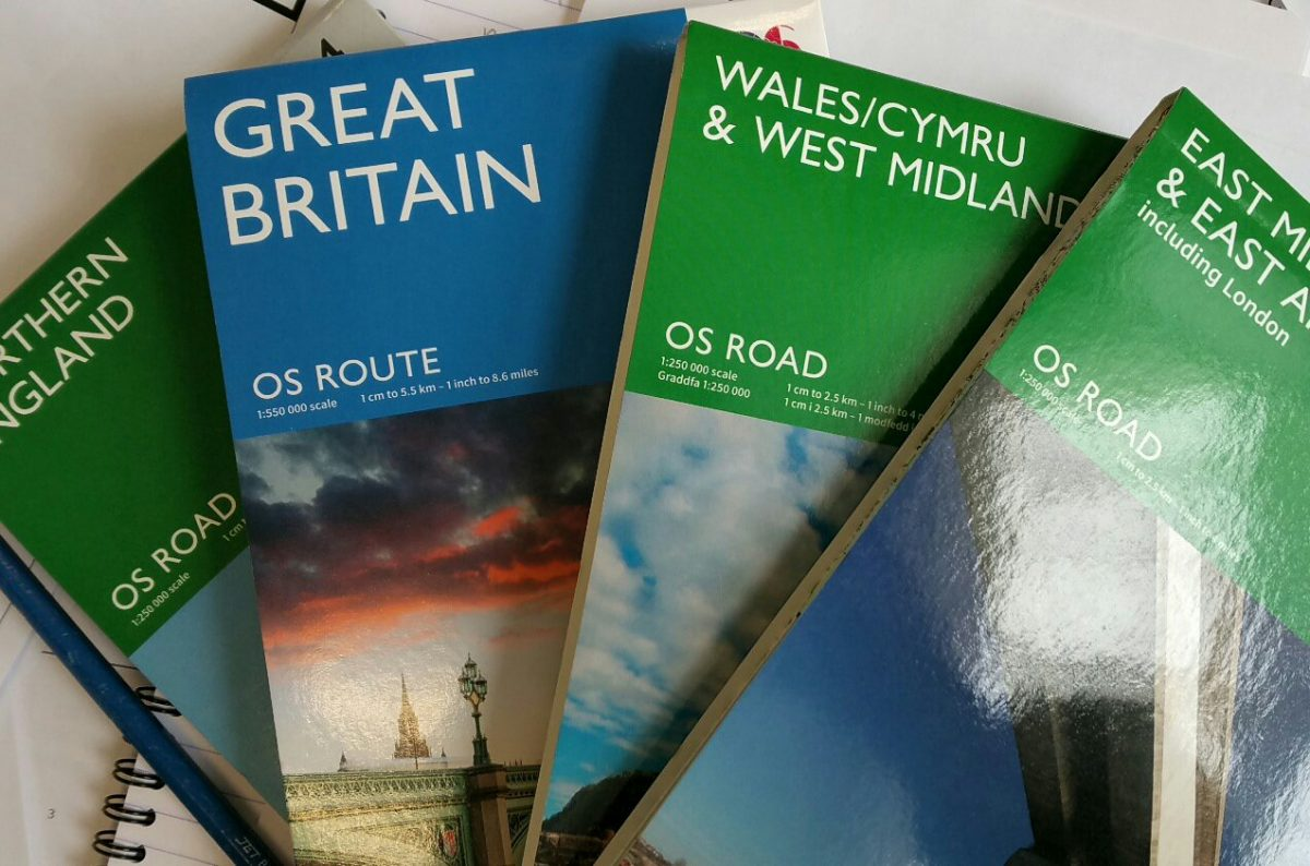 Ordnance Survey Road maps… they're back!