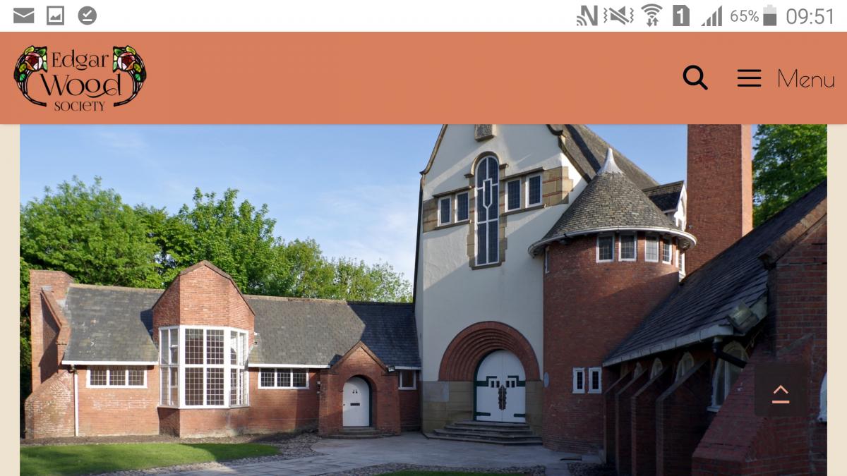 New Edgar Wood and Arts & Crafts Movement Website